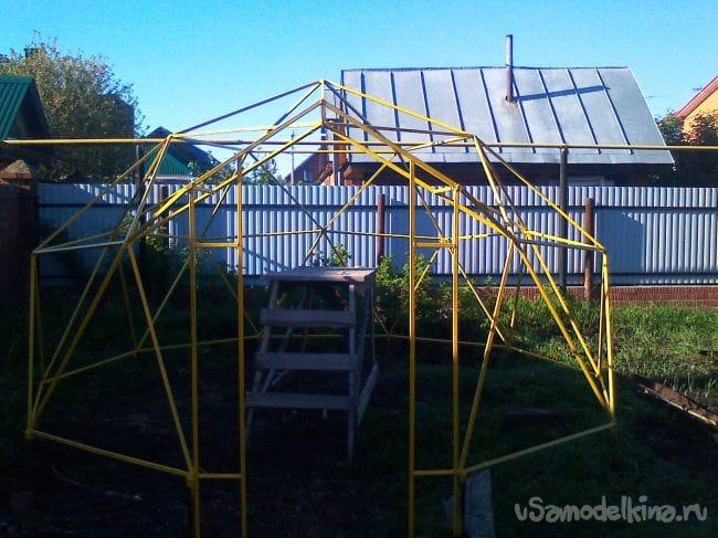 Теплица - геодезический купол