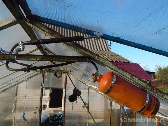 Автомат открывания рамы в теплице