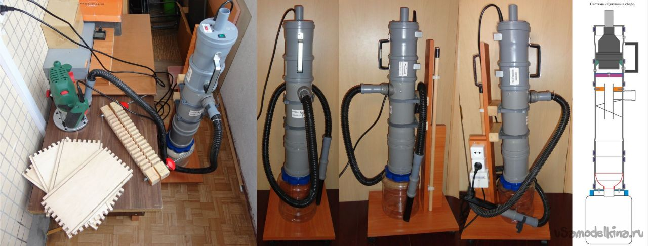Компактная система удаления пыли и опилок «Циклон»