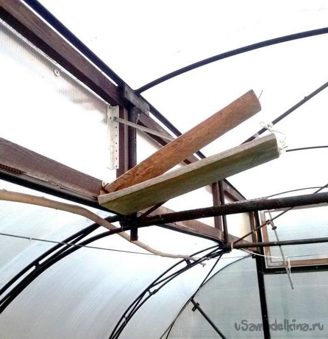 Модернизация конструкции теплицы по Миттлайдеру