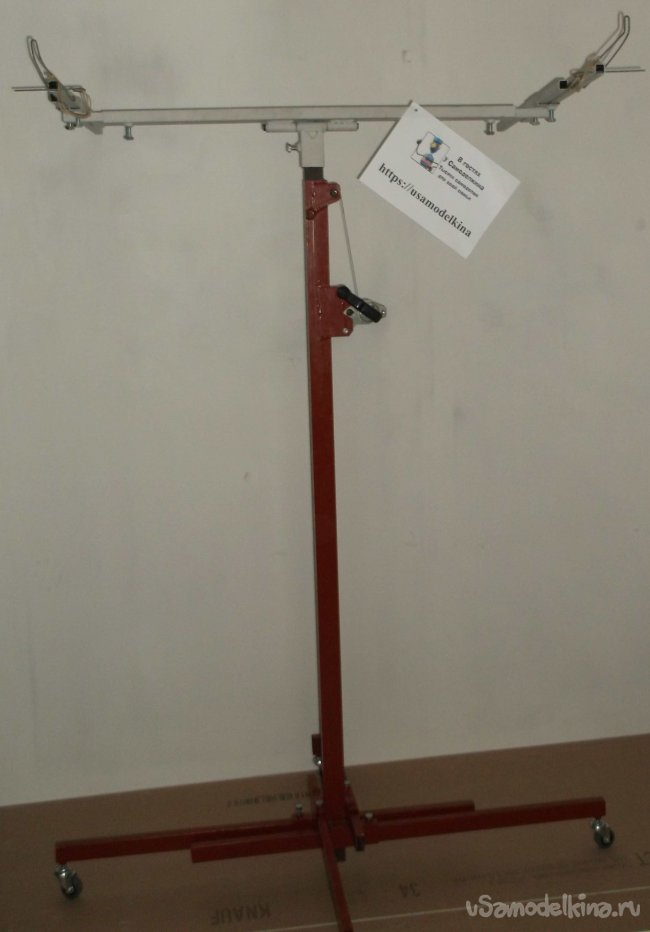 Подъемник для гипсокартона из профильных труб