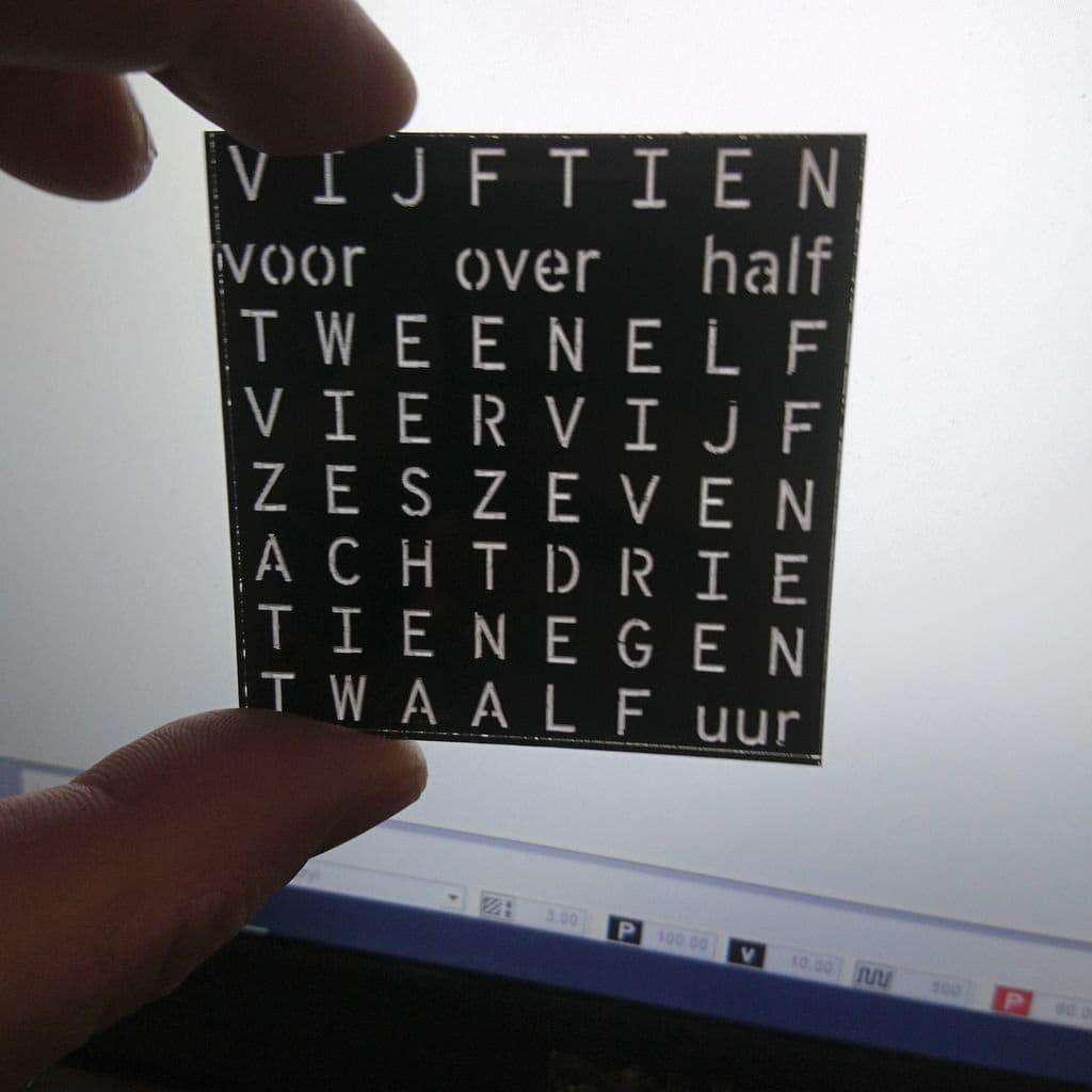 Словесные часы на голландском языке