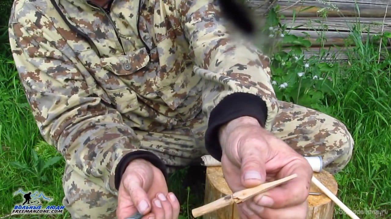 Изготовление стрел для лука в лесу без станков и оборудования
