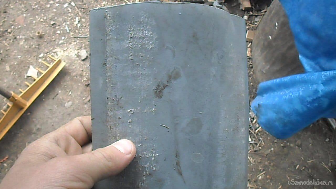 Мотовильце для удочки из отрезка канализационной трубы своими руками