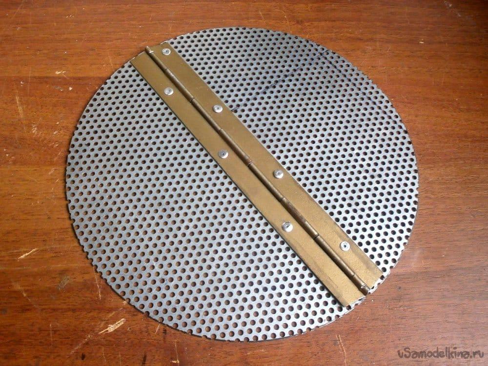 Компактная печь для казана из фреонового баллона