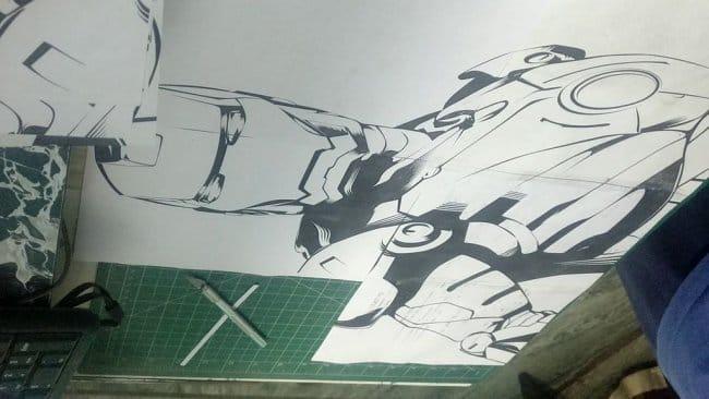 Табурет в стиле «Железный человек»