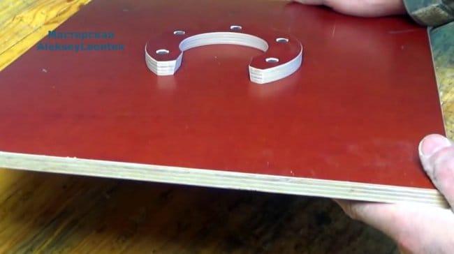 Небольшой складной стол для пикника, и интересная защелка