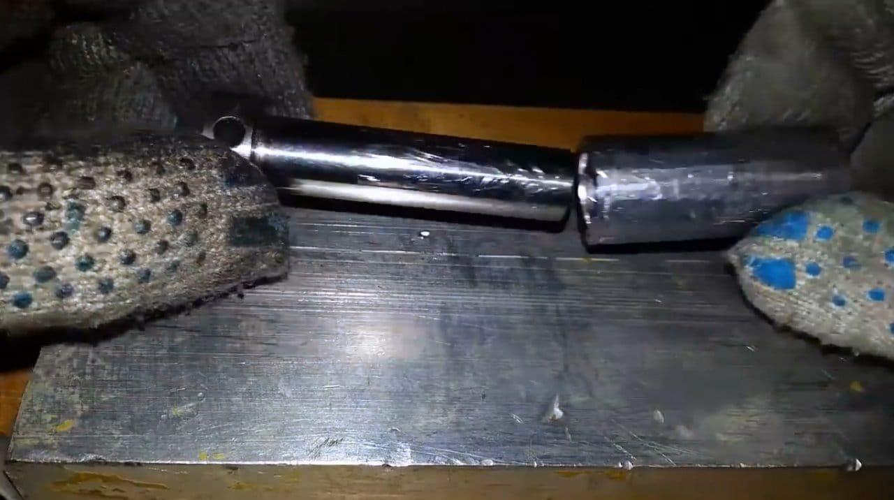 Самодельная форма для отливки скользящих грузил
