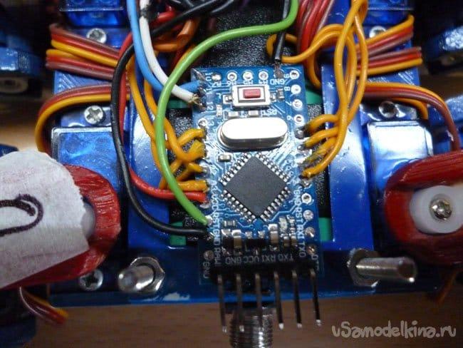 Квадрапод на Arduino (апгрейд четырехногого робота на ESP)