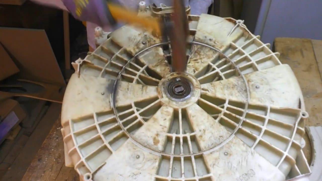 Мангал из барабана от стиральной машинки