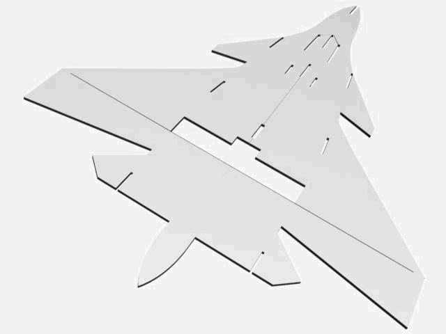Строим модель самолёта Су-37