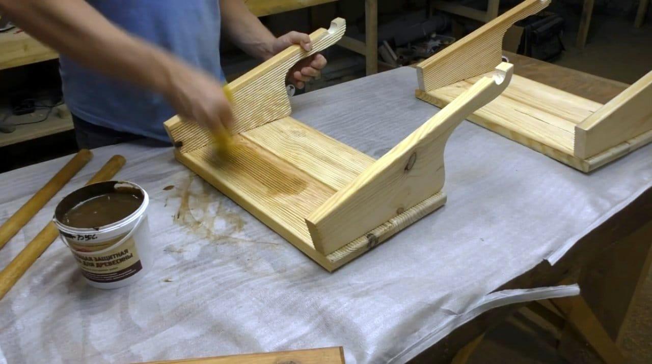Стол - корзинка для пикника (трансформер) своими руками