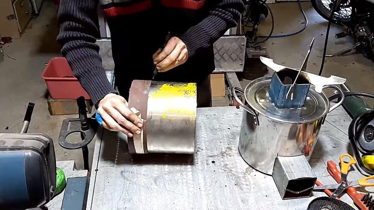 Простая миниатюрная ракетная печь
