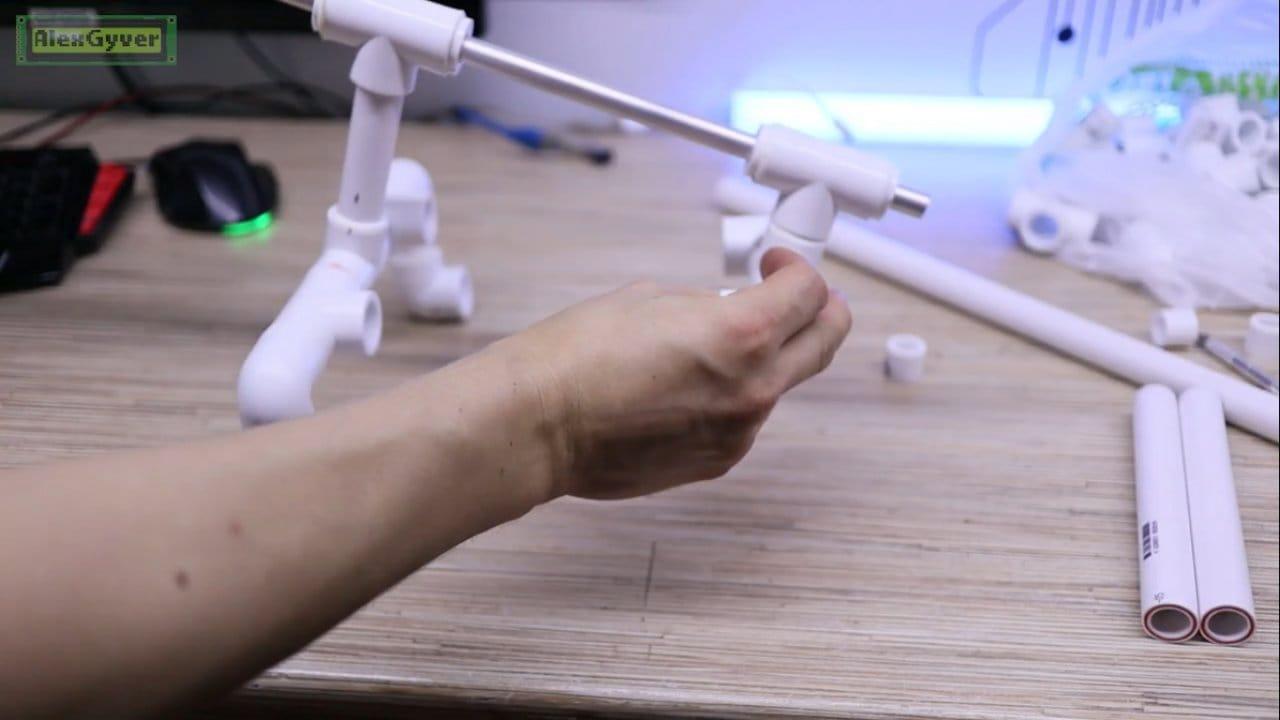 Руль для компьютера своими руками из сантеха
