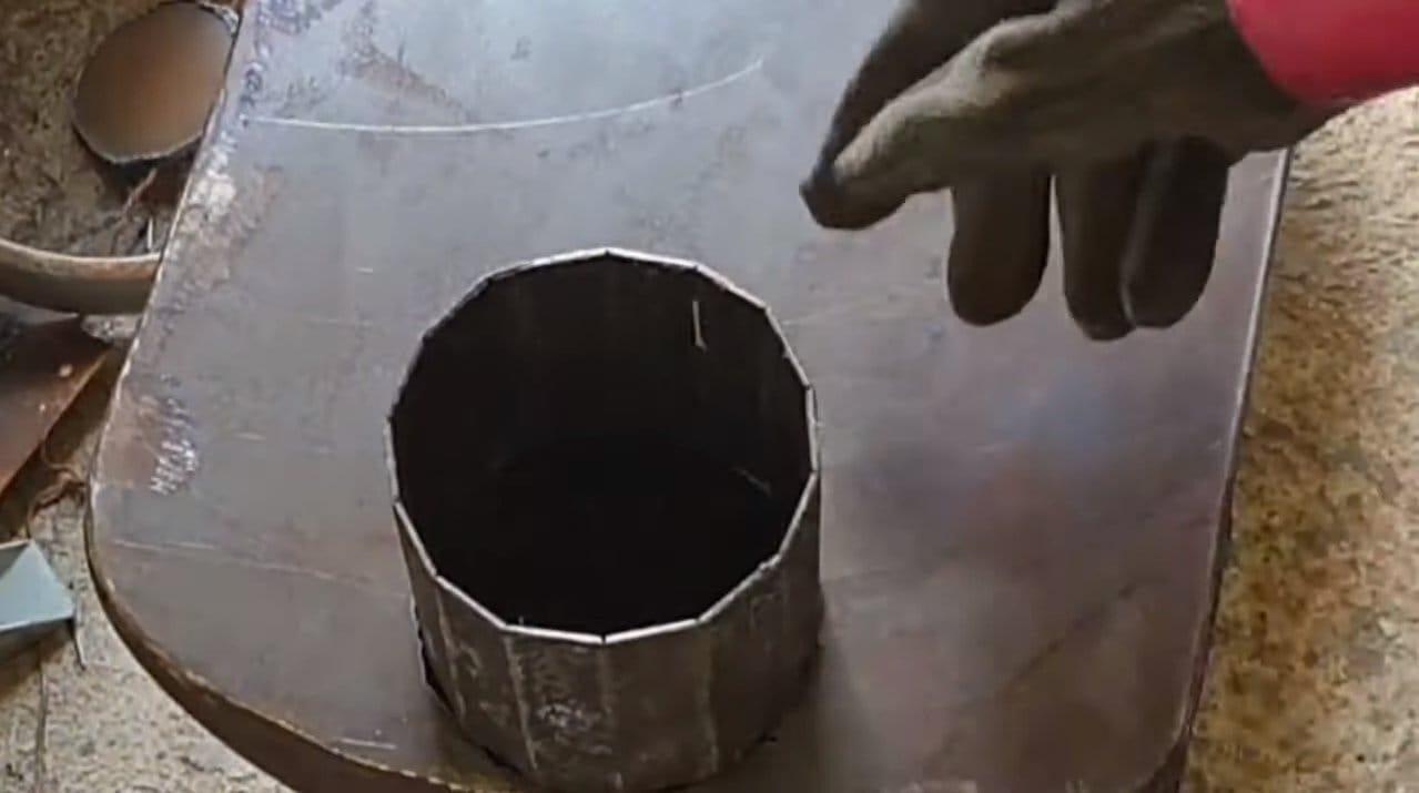 Отопительно-варочная печь из баллонов
