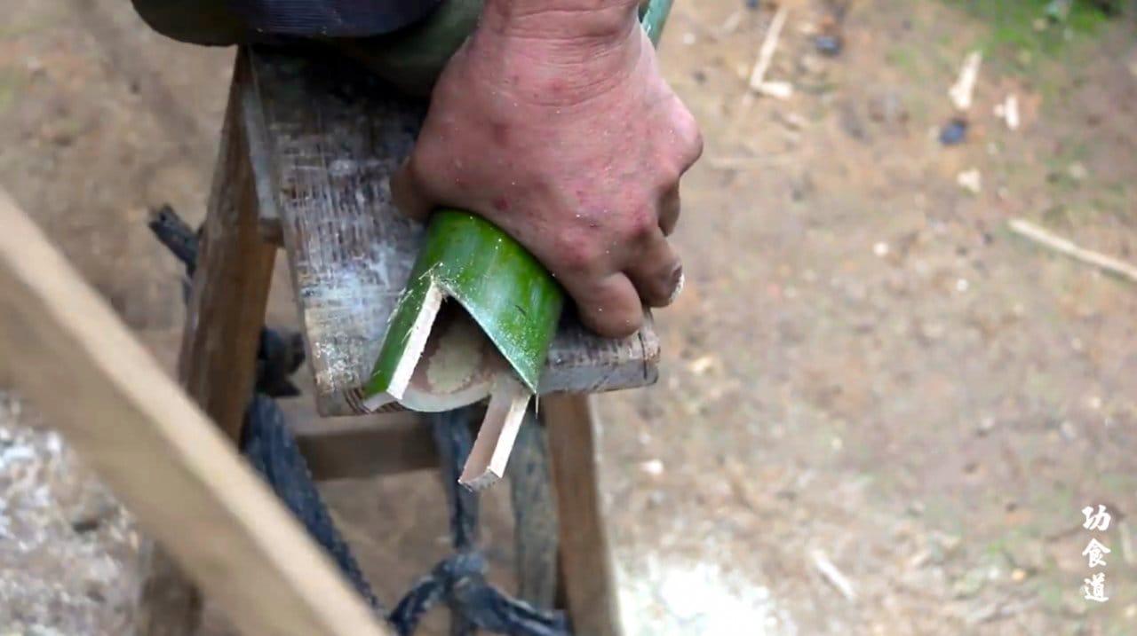 Флюгер - отпугиватель птиц из бамбука своими руками