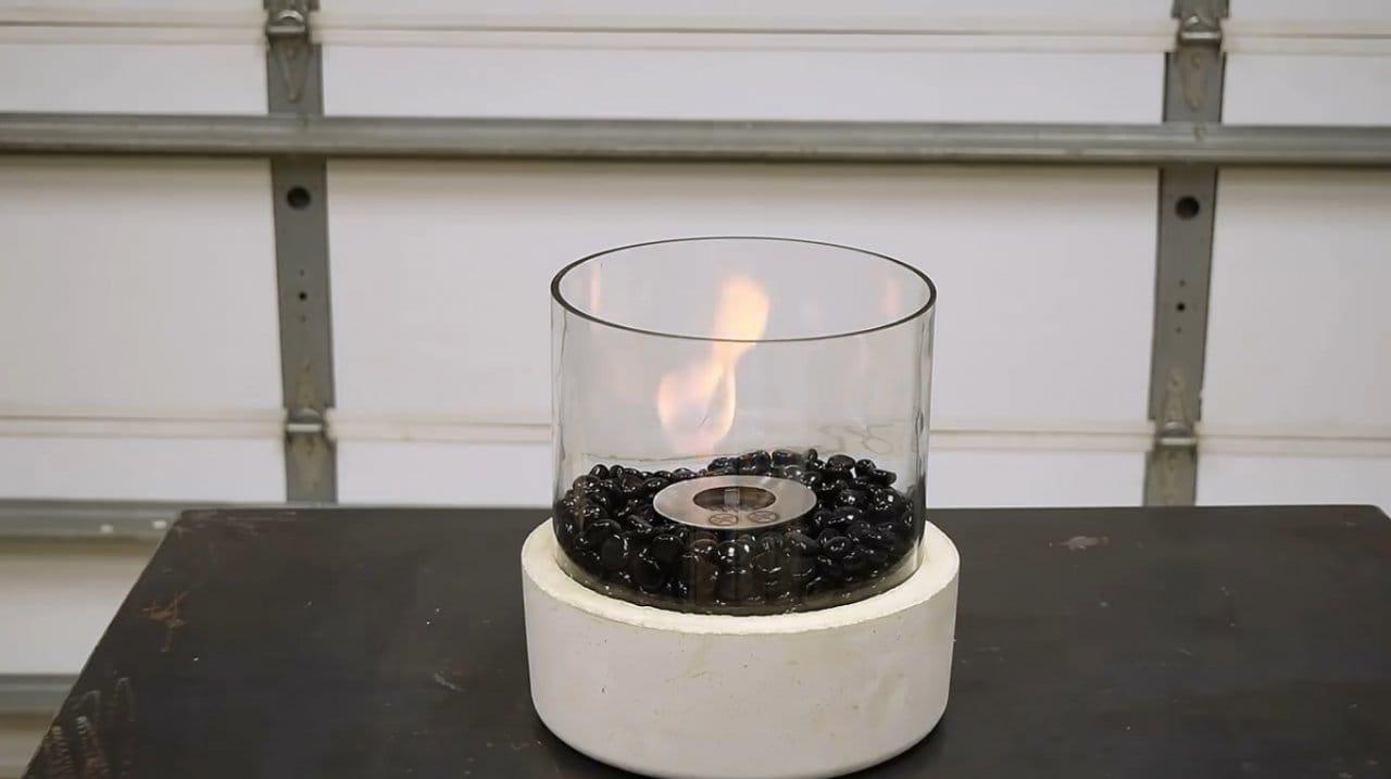 Настольная огненная чаша своими руками