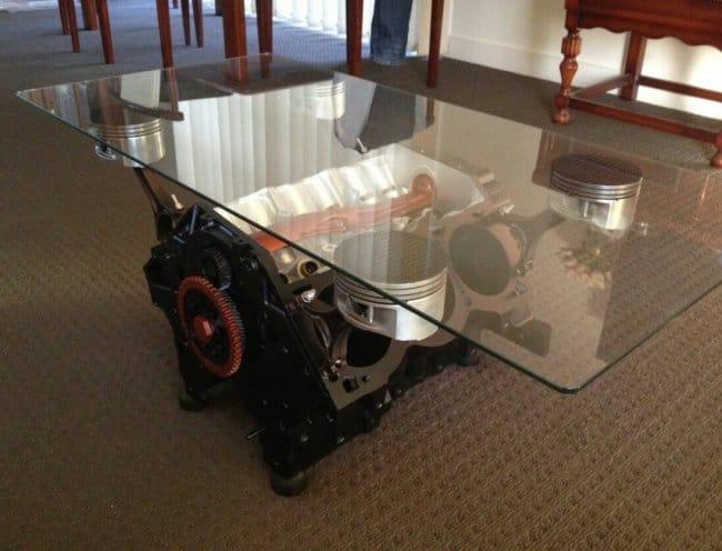 Кофейный столик из ДВС