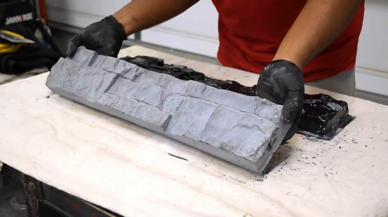 Самодельный декоративный камень «Византийский кирпич»