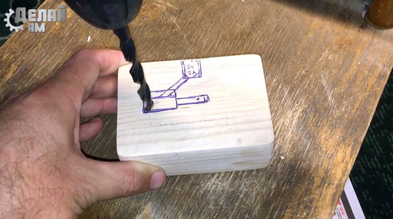 Светильник с гравитационно-магнитным выключателем своими руками