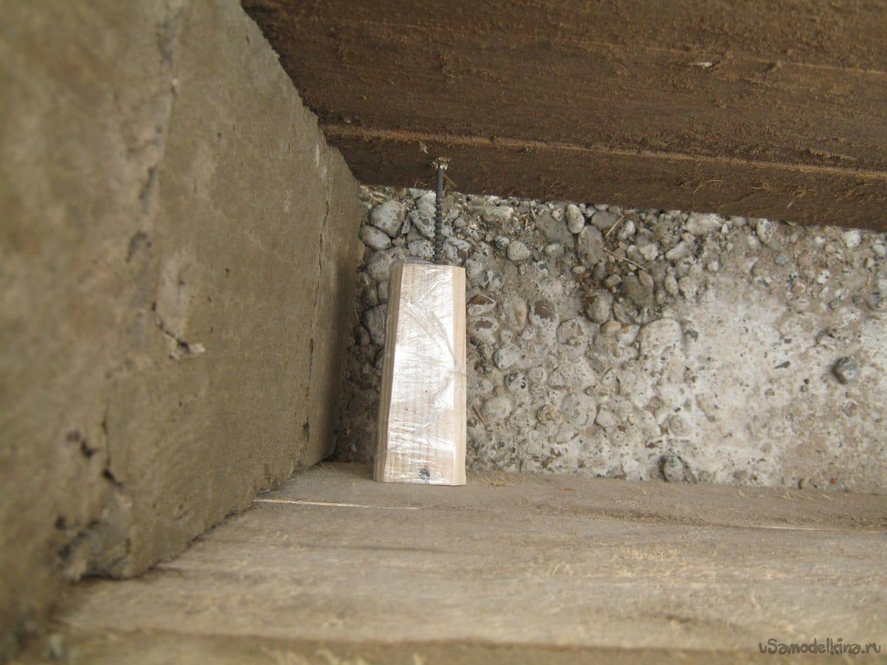 Замуровывание в бетон металло бетон