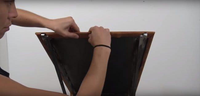Металлическое кресло в стиле лофт