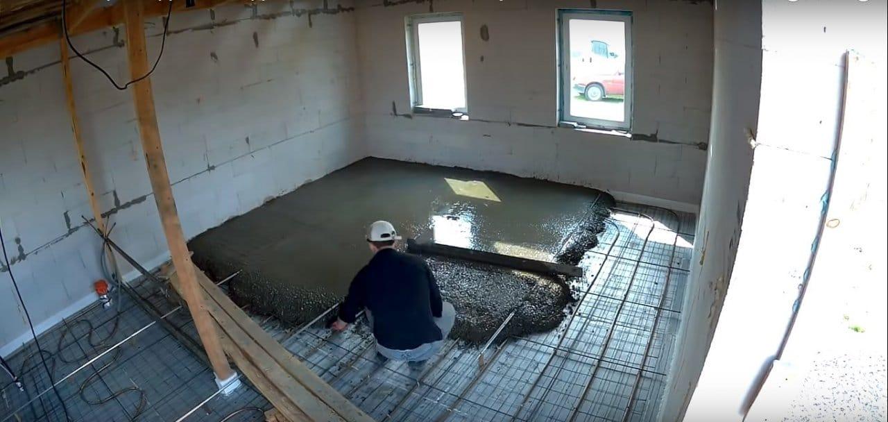 Теплый пол поверх грунта!
