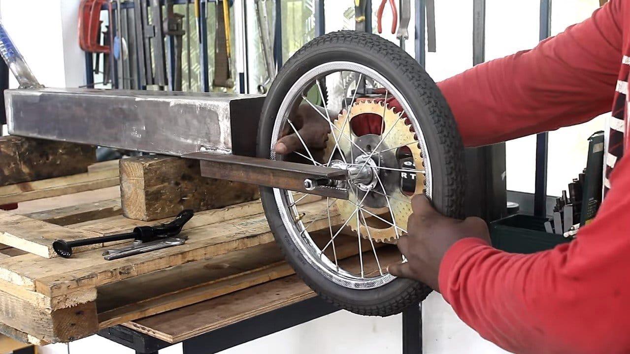 Скутер из бензопилы 58 кубов