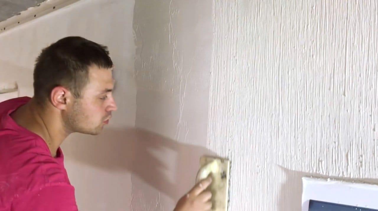 Техника финишного декоративного покрытия с текстурой холста
