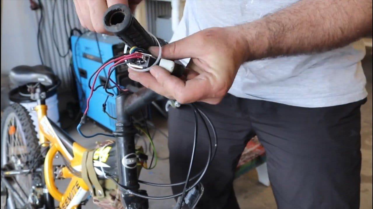 Электровелосипед с мотором от автомобильных дворников