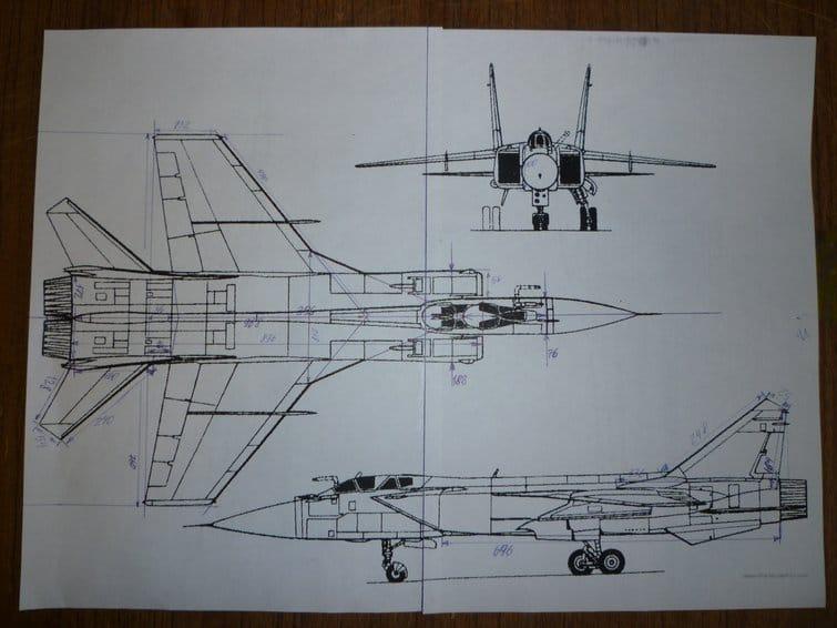 Авиамодель самолёта МиГ-31 на импеллере