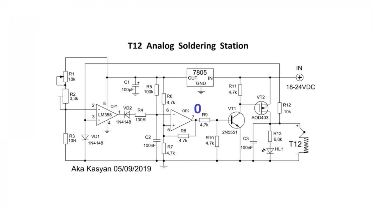 Простейшая паяльная станция на жалах T12