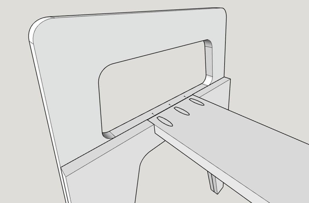 Фанерный стол с выдвижными ящиками