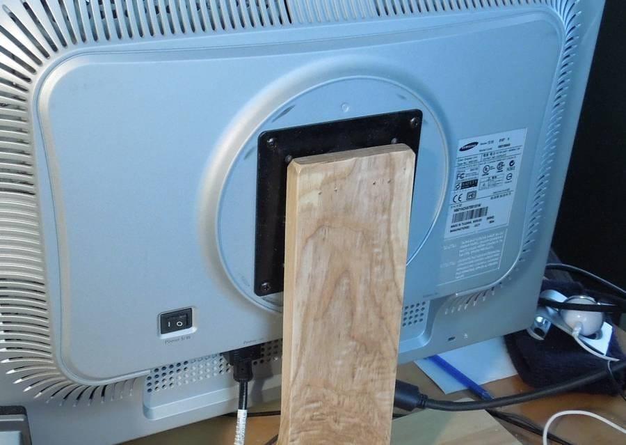 Компактная подставка для монитора и компьютерного системного блока