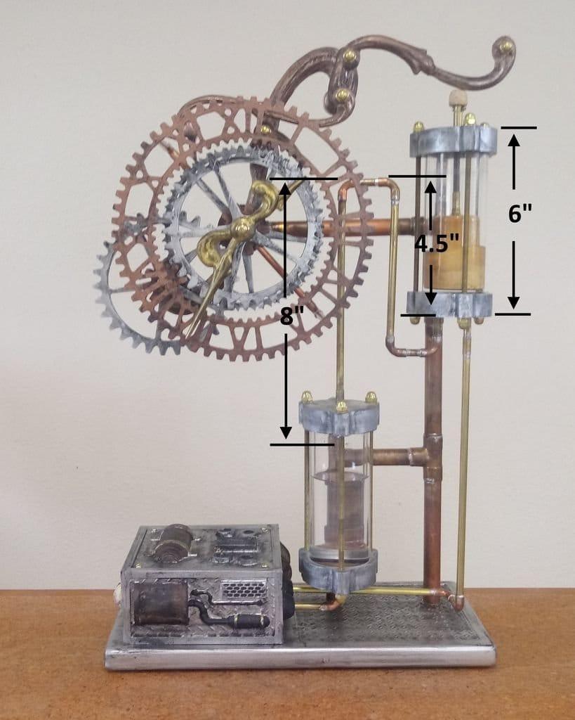 Стимпанк-часы «Клепсидра» в средневековом стиле