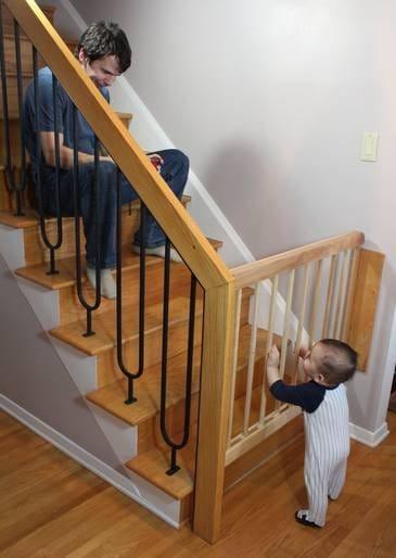 Параллелограммные ворота на лестнице для защиты детей