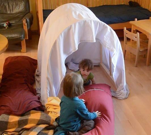 Строительство детского «домика для игр»