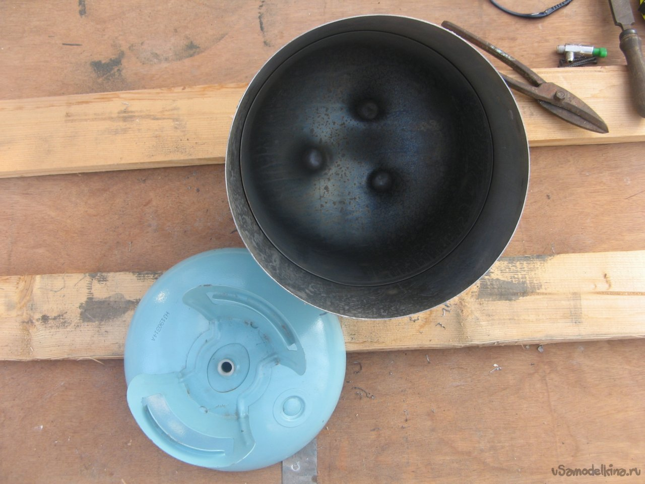 Коптилка из баллона от фреона