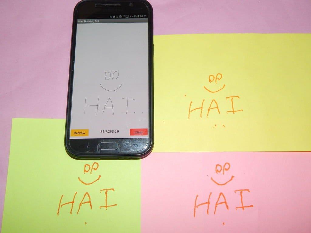 Графическое устройство с управлением через смартфон