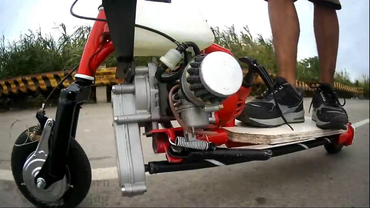 Скутер с мотором 49сс и редуктором от болгарки своими руками