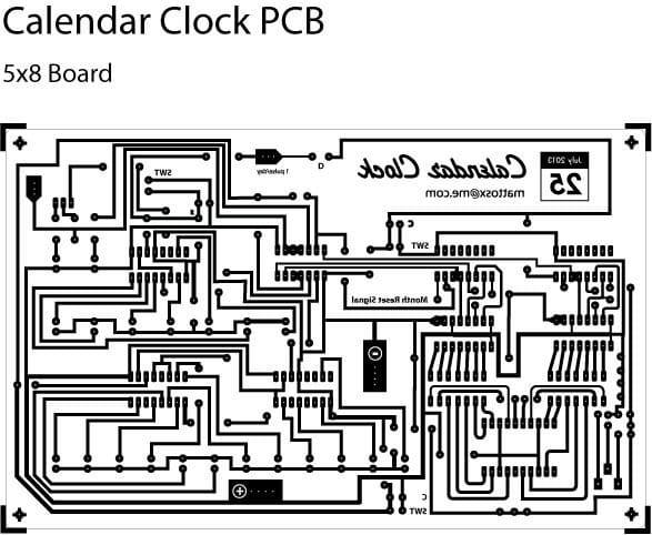 Электронный календарь на восьми КМОП-микросхемах