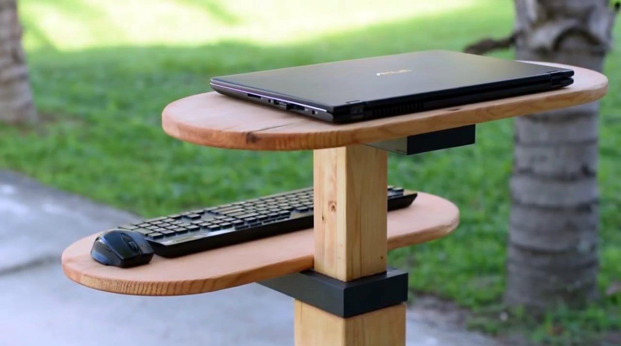 Подставка для работы за ноутбуком стоя своими руками