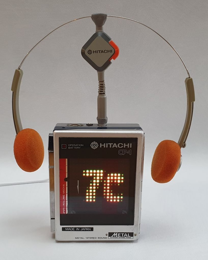 Метеостанция в корпусе от кассетного плеера Hitachi