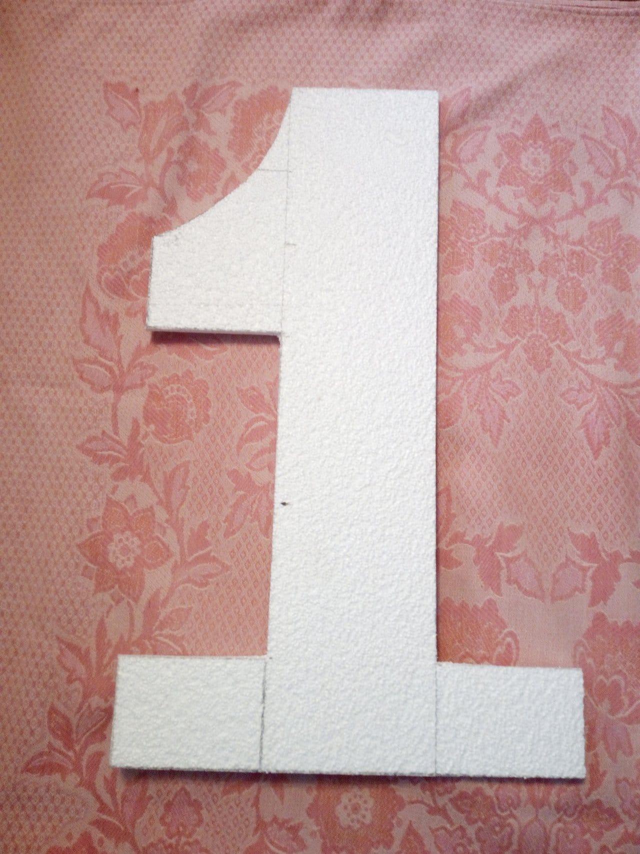 Цифра 1 на первый день рождения ребёнка