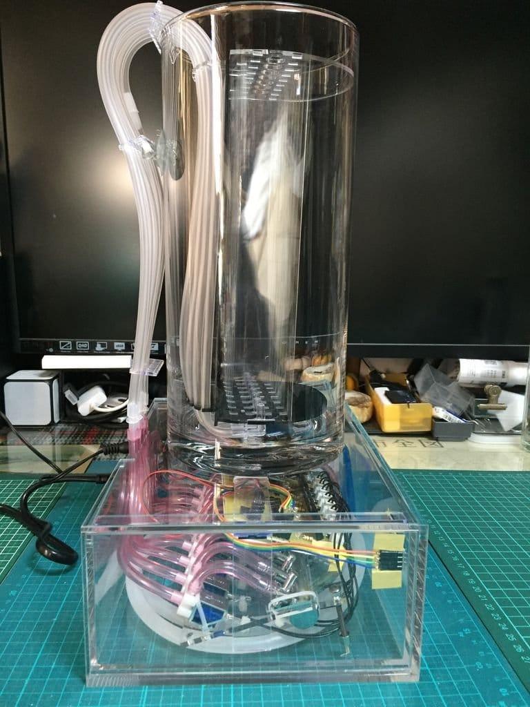 Воздушно-пузырьковые часы