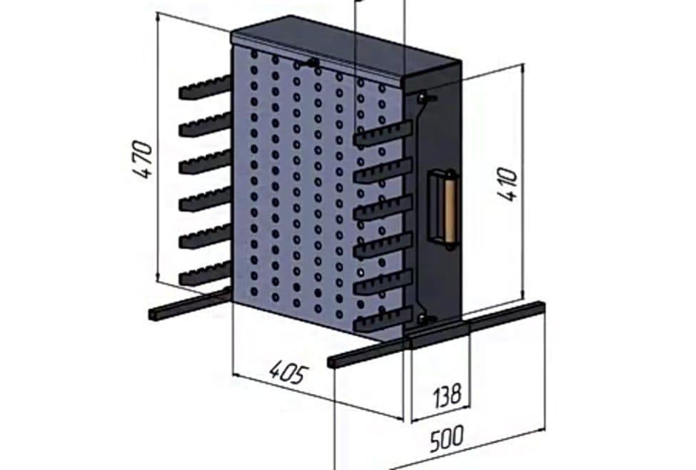 Вертикальный мангал открытого типа