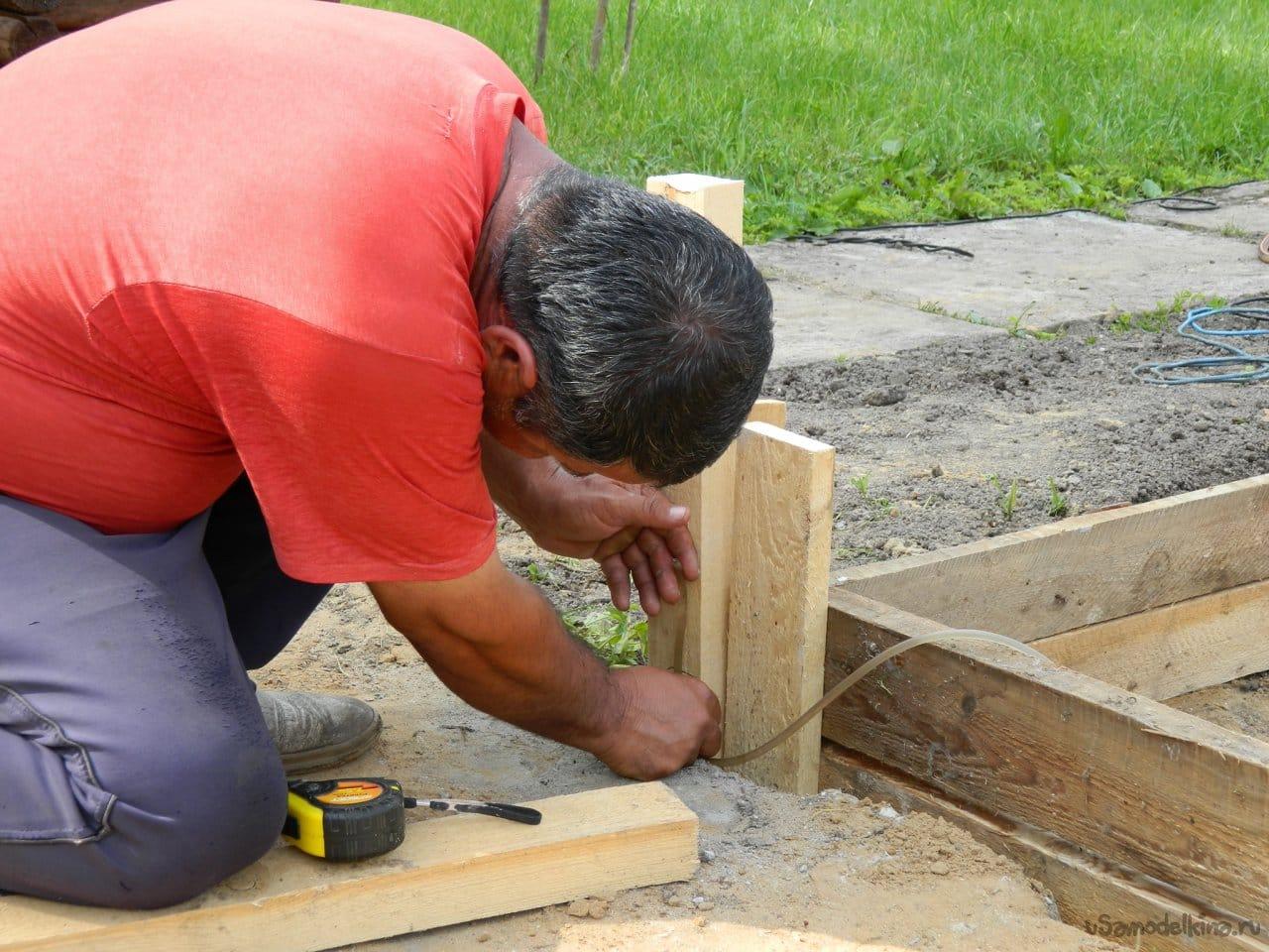 Фундамент под гараж - фундаментная плита