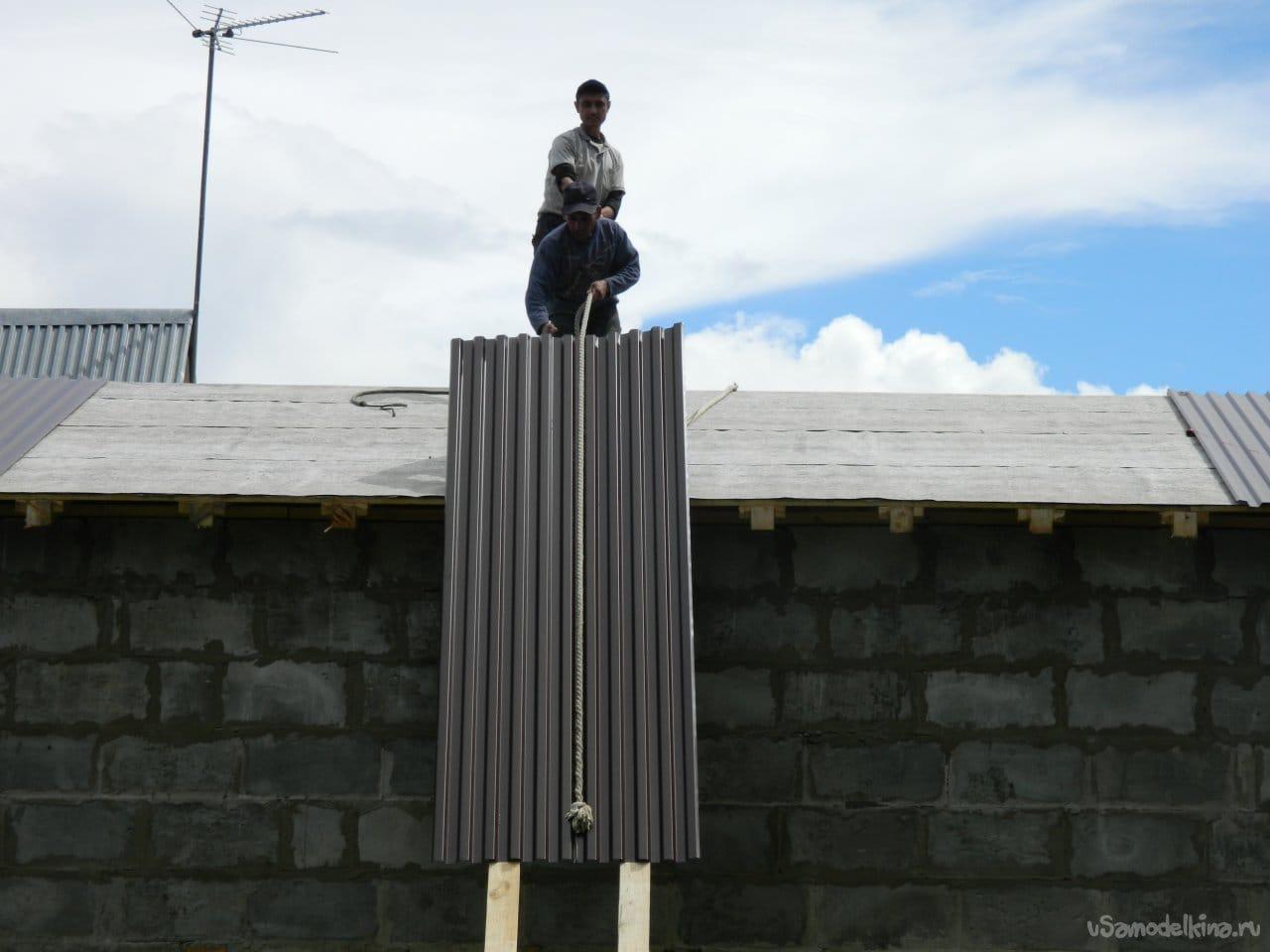 Строительство гаража с жилой зоной на втором этаже
