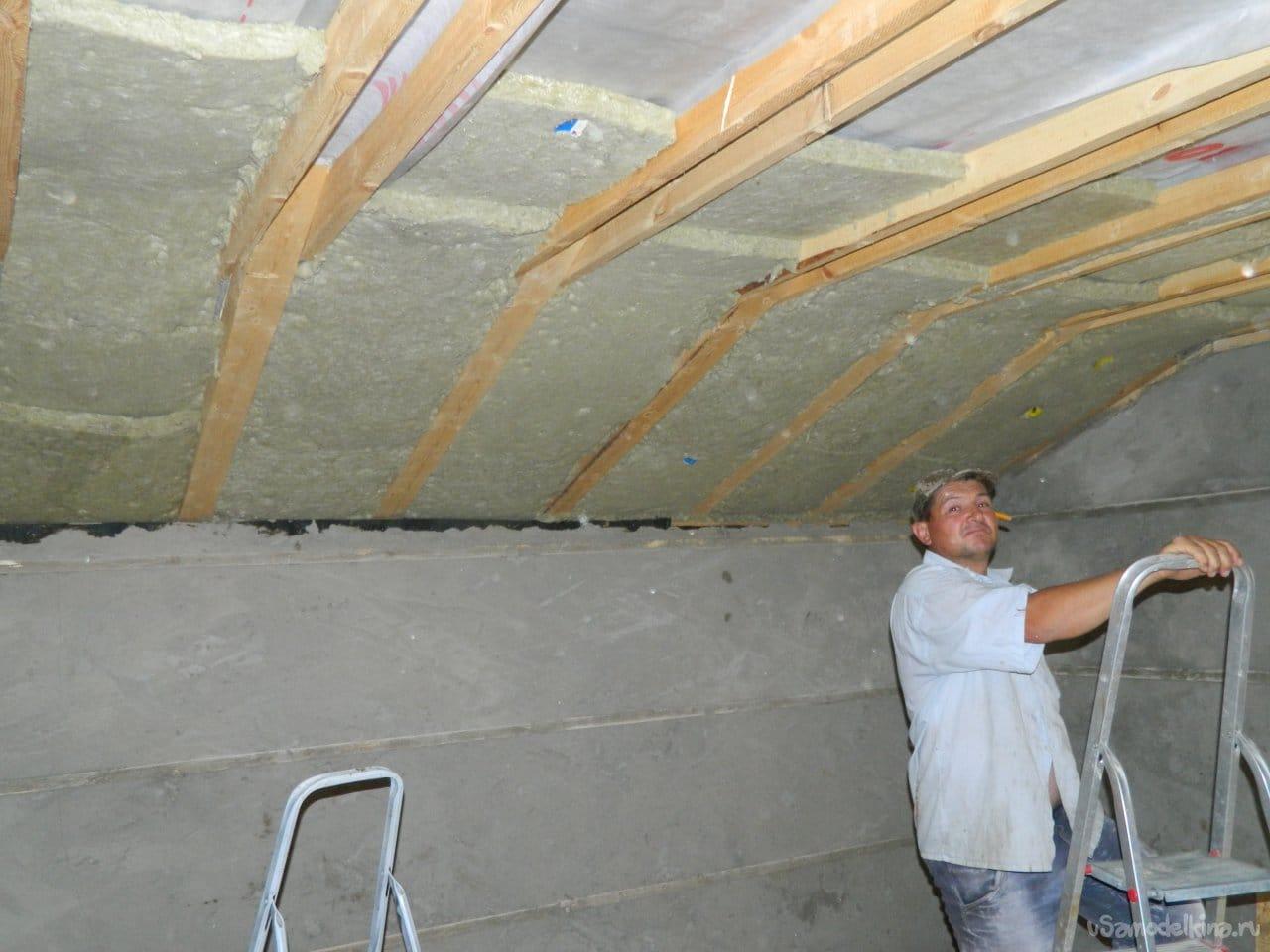 Внутренняя отделка двухэтажного гаража