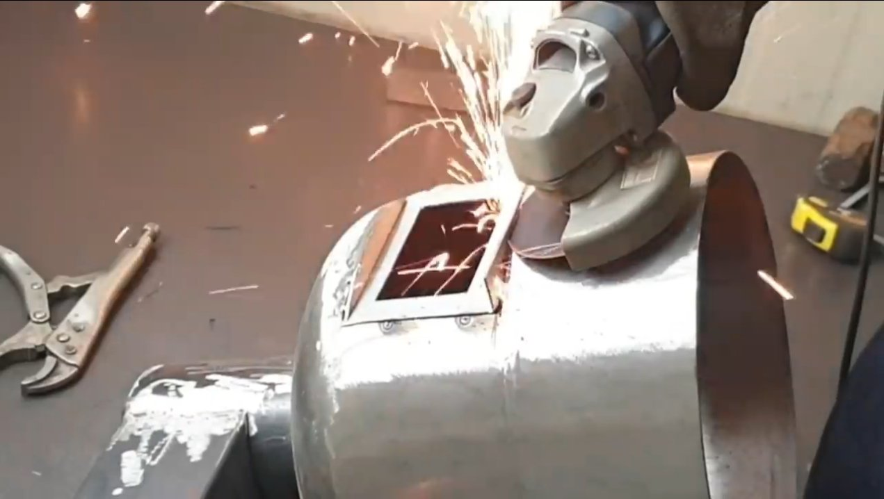 Печь для кемпинга из баллона